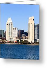 San Diego Skyscrapers Greeting Card