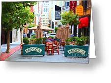 San Francisco - Maiden Lane - Outdoor Lunch At Mocca Cafe - 5d17932 - Painterly Greeting Card