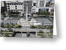 San Francisco - Union Square - 5d17942 Greeting Card