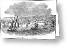 San Francisco Bay, 1849 Greeting Card
