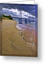 San Francisco Bay Bridge And Beach Greeting Card