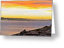 San Francisco Bay Wide View Greeting Card