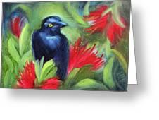 San Francisco Black Bird Greeting Card