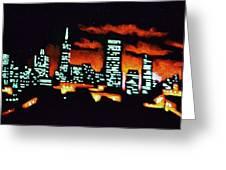 San Francisco Black Light Greeting Card