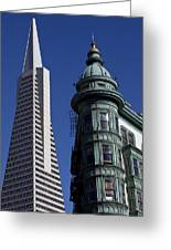San Francisco Buildings Greeting Card