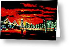 San Francisco By Black Light Greeting Card