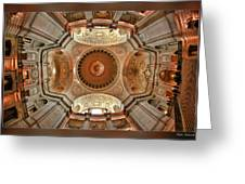 San Francisco City Hall Ceiling Greeting Card