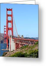 San Francisco Golden Gate Bridge . 7d8157 Greeting Card by Wingsdomain Art and Photography