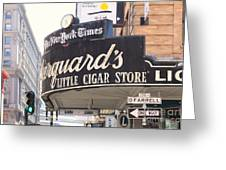 San Francisco Marquard's Little Cigar Store On Powell And O'farrell Streets - 5d17954 - Painterly Greeting Card