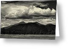 San Francisco Peaks In Black And White Greeting Card
