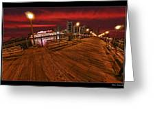San Francisco Red Sky Pier Greeting Card