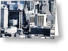 San Francisco Skyline-grunge Greeting Card