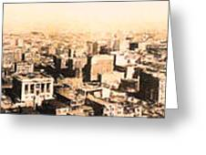 San Francisco Skyline Panorama 1909 From The Ferry Building Through South Of Market Greeting Card