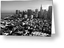 San Francisco Greeting Card by Valeria Donaldson