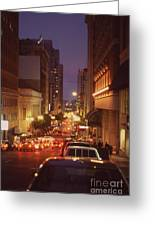 San Francisico Street Greeting Card by Thomas Luca