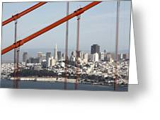 San Francisco Through The Cables Greeting Card