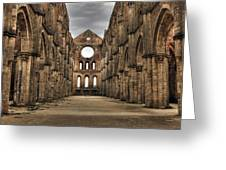San Galgano  - A Ruin Of An Old Monastery With No Roof Greeting Card