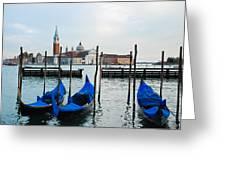 San Giorgio Maggiore And Gondolas Greeting Card