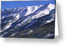 San Juan Mountains Covered In Snow Greeting Card