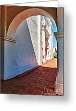 San Luis Rey Courtyard Greeting Card