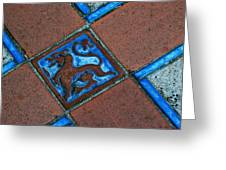 San Simeon Patio Tile Greeting Card