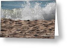 Sand And Surf Greeting Card