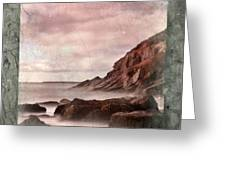 Sand Beach In Texture Greeting Card