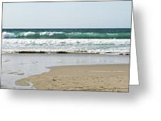 Sand City Rolling Waves Greeting Card