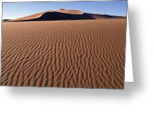Sand Dunes Against Clear Sky Greeting Card
