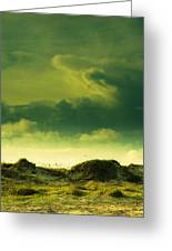 Sand Dunes And Clouds Greeting Card by Marilyn Hunt