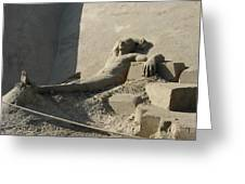 Sand Man Greeting Card
