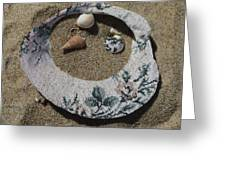 Sand On A Half Shell Greeting Card