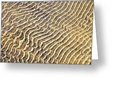 Sand Ripples In Shallow Water Greeting Card