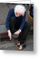 Sandal Time Take Your Socks Off Greeting Card