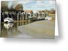 Sandbanks And Boats Greeting Card