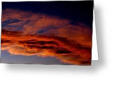 Sandia Heights Fiery Sunset Panoramic Greeting Card