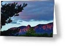 Sandia Mountains At Sunset Greeting Card