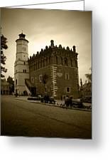 Sandomierz Sepia Greeting Card