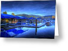 Sandpoint Marina And Power House 1 Greeting Card