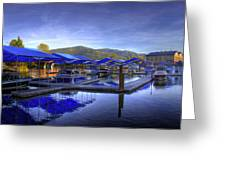 Sandpoint Marina And Power House 2 Greeting Card