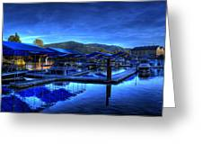 Sandpoint Marina And Power House 3 Greeting Card
