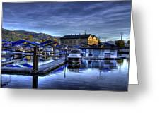 Sandpoint Marina And Power House Greeting Card