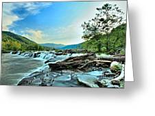 Sandstone At New River Greeting Card