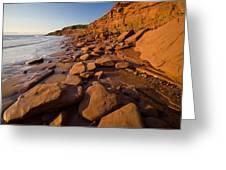 Sandstone Cliffs, Cape Turner, Prince Greeting Card by John Sylvester