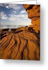 Sandstone Cliffs, Cavendish, Prince Greeting Card