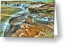 Sandstone Falls In The New River Greeting Card