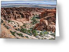 Sandstone Fins Of Arches National Park Greeting Card