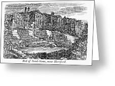 Sandstone Quarry, 1840 Greeting Card