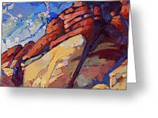 Sandstone Quarry Greeting Card by Erin Hanson