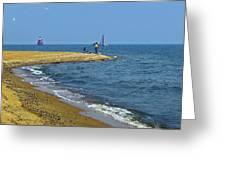 Sandy Point Fisherman Greeting Card